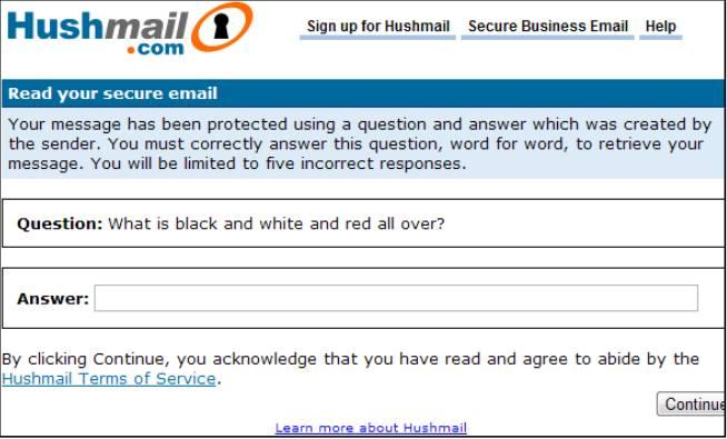 Вопрос от hushmail