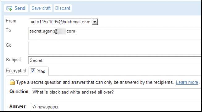 E-mail ящик от Hushmail