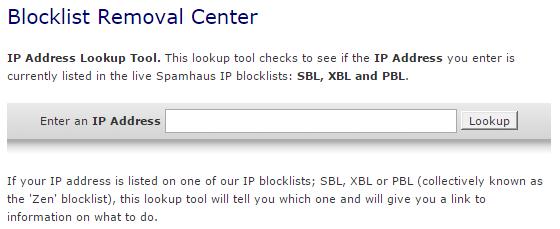 убрать ip из черного списка