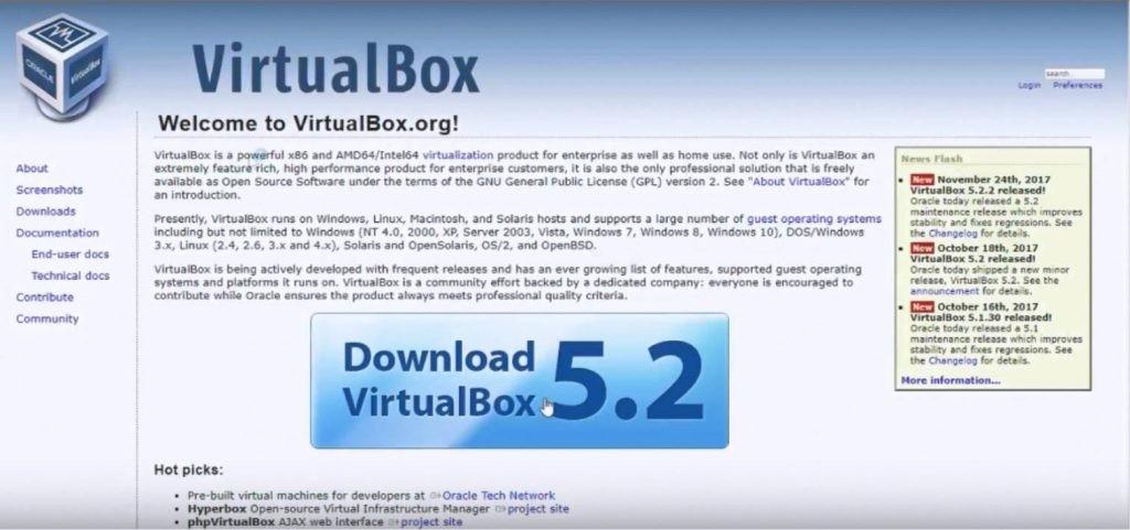 запрос Oracle VM VirtualBox